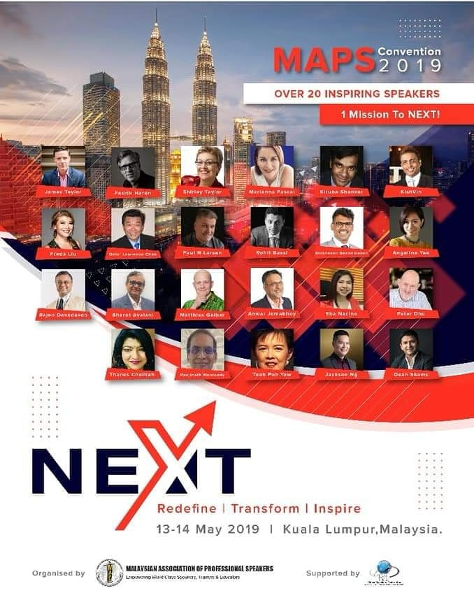 Malaysia Association Of Professional Speakers Convention 2019 Kiruba Shankar Professional Speaker On Digital Excellence